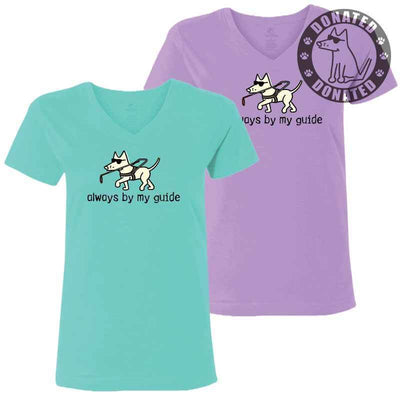 Always By My Guide - Ladies T-Shirt V-Neck
