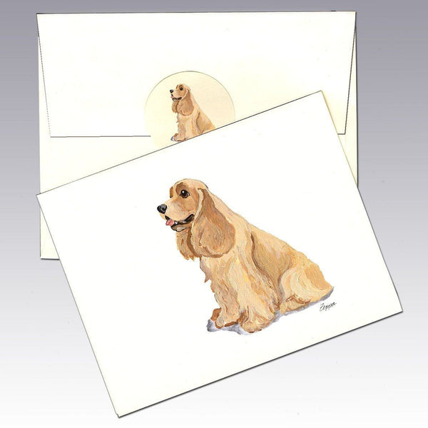 American Cocker Spaniel, Blonde Note Cards