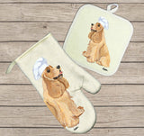 American Cocker Spaniel Oven Mitt and Pot Holder