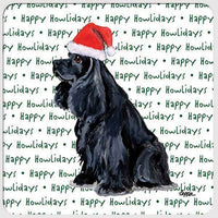 "American Cocker Spaniel, Black ""Happy Howlidays"" Coaster"