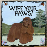 American Cocker Spaniel Slate Sign