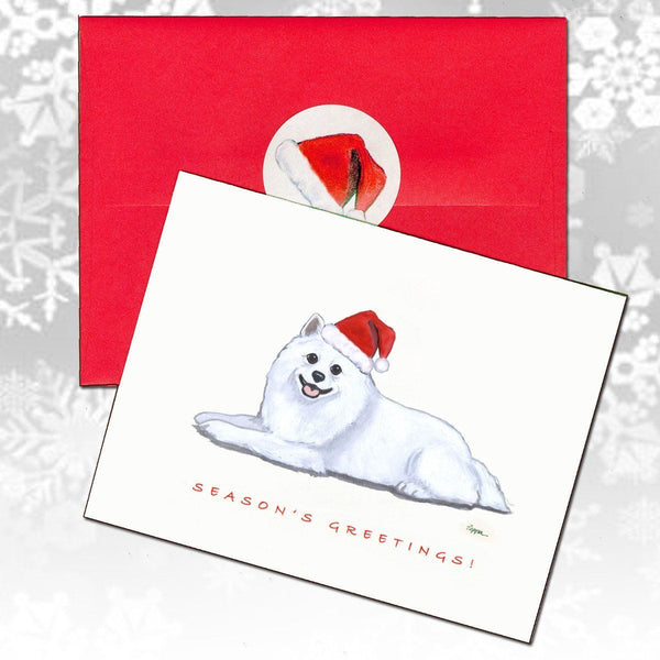 American Eskimo Dog Christmas Note Cards