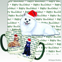 American Eskimo Dog Holiday Mug