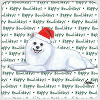 "American Eskimo Dog ""Happy Howlidays"" Coaster"