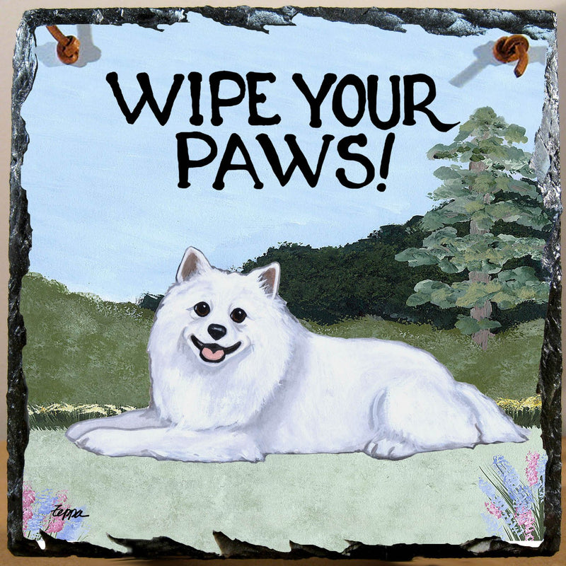 American Eskimo Dog Slate Sign