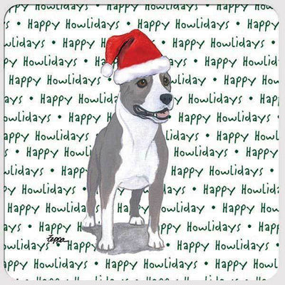 "American Staffordshire Terrier ""Happy Howlidays"" Coaster"