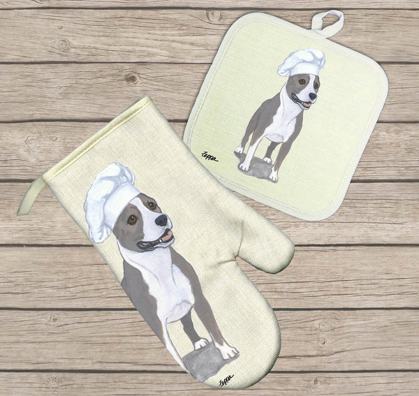 American Staffordshire Terrier Oven Mitt and Pot Holder