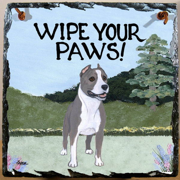 American Staffordshire Terrier Slate Sign