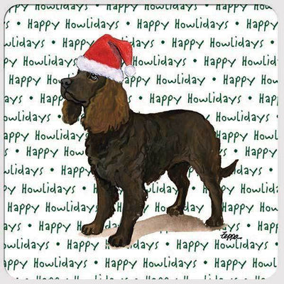 "American Water Spaniel ""Happy Howlidays"" Coaster"