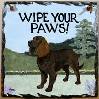 American Water Spaniel Slate Sign
