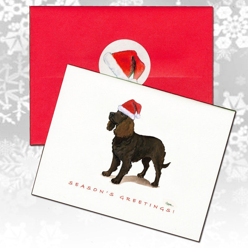 American Water Spaniel Christmas Note Cards