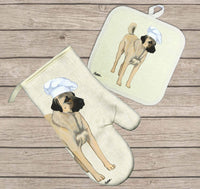 Anatolian Shepherd Dog Oven Mitt and Pot Holder