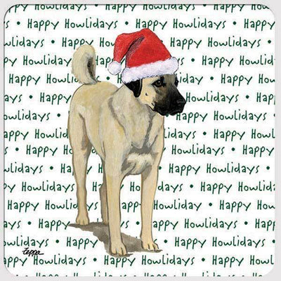 "Anatolian Shepherd Dog ""Happy Howlidays"" Coaster"