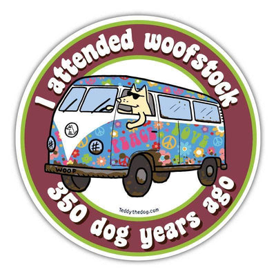 I Attended Woofstock - Car Magnet