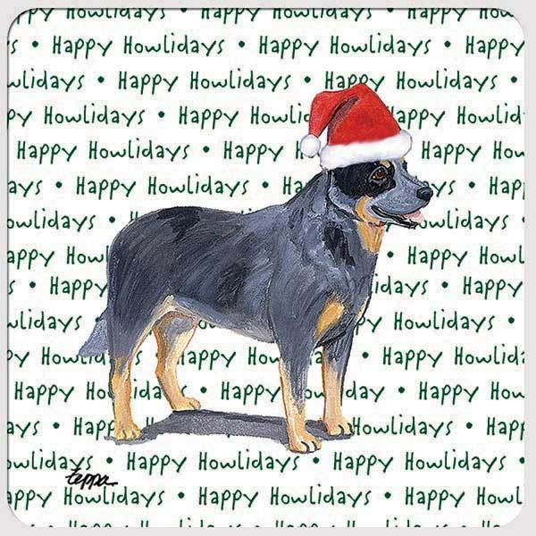 "Australian Cattle Dog ""Happy Howlidays"" Coaster"