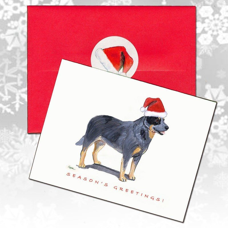 Australian Cattle Dog Christmas Note Cards