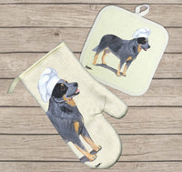 Australian Cattle Dog Oven Mitt and Pot Holder