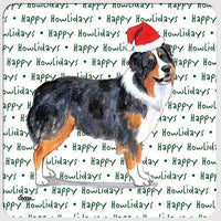 "Australian Shepherd ""Happy Howlidays"" Coaster"
