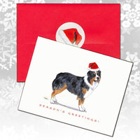 Australian Shepherd Christmas Note Cards