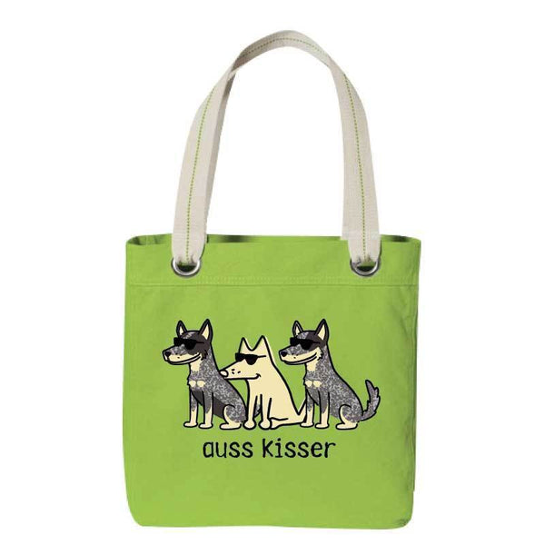Auss Kisser - Canvas Tote - Teddy the Dog T-Shirts and Gifts