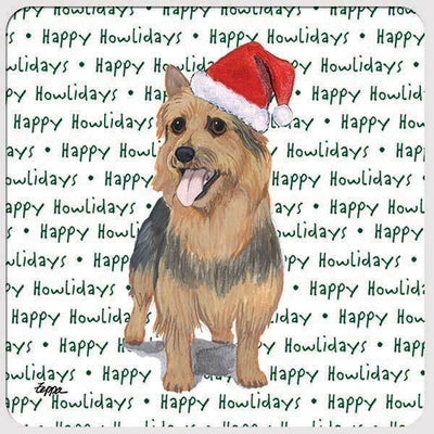 "Australian Terrier ""Happy Howlidays"" Coaster"