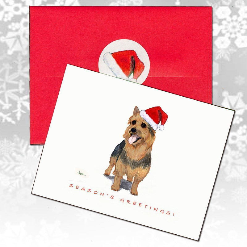Australian Terrier Christmas Note Cards