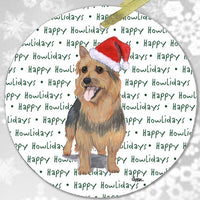 "Australian Terrier ""Happy Howlidays"" Ornament"