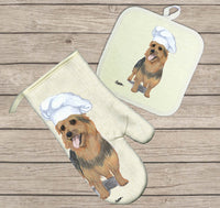 Australian Terrier Oven Mitt and Pot Holder