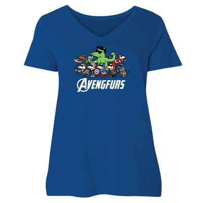 Avengfurs - Ladies Curvy V-Neck Tee