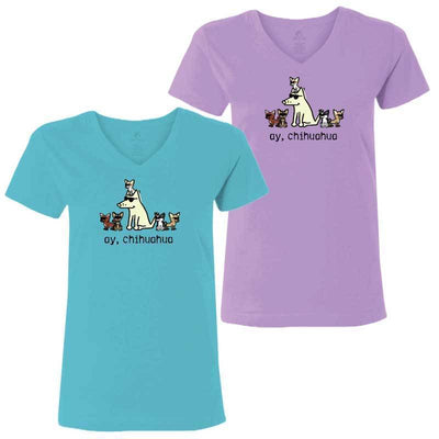 Ay, Chihuahua - Ladies T-Shirt V-Neck
