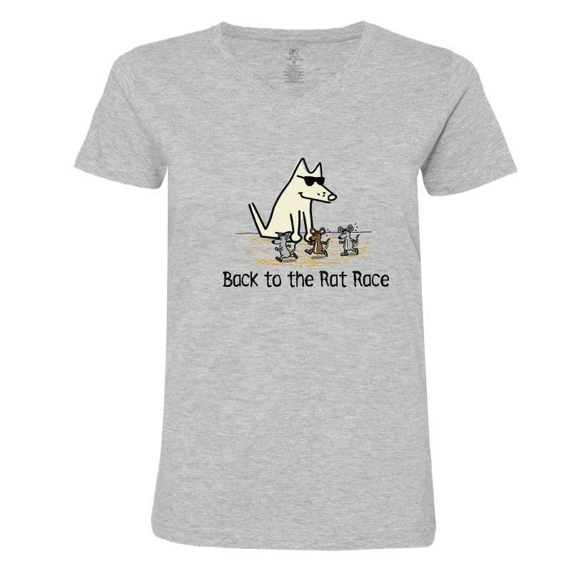 Back To The Rat Race - Ladies T-Shirt V-Neck