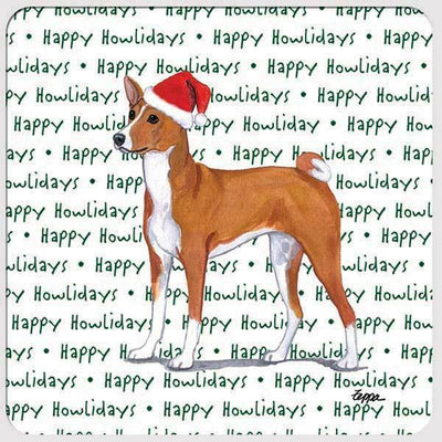 "Basenji ""Happy Howlidays"" Coaster"