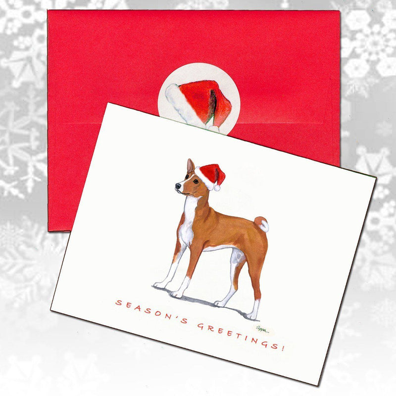 Basenji Christmas Note Cards