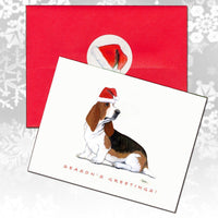 Basset Hound Christmas Note Cards