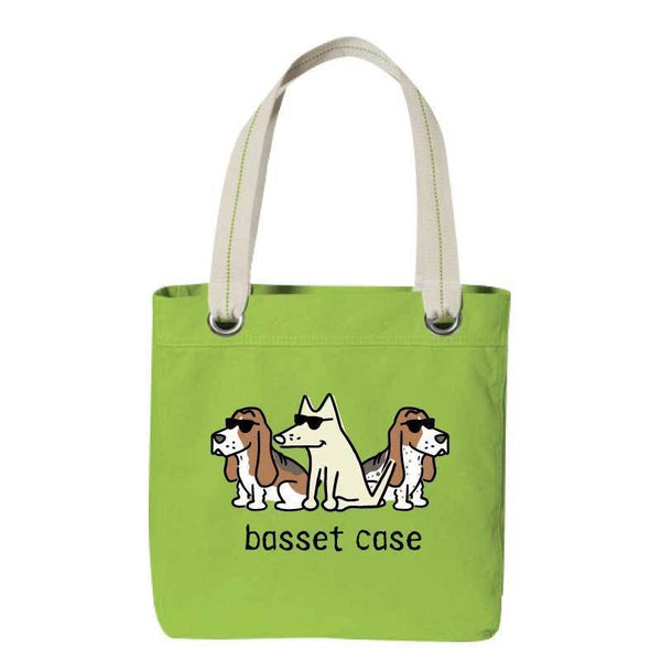 Basset Case - Canvas Tote - Teddy the Dog T-Shirts and Gifts