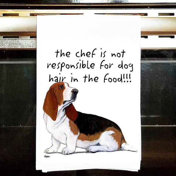 Basset Hound Tea Towel