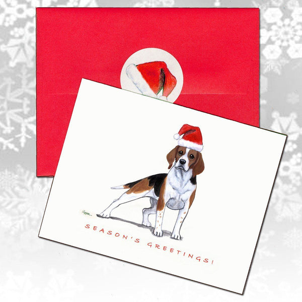 Beagle Christmas Note Cards