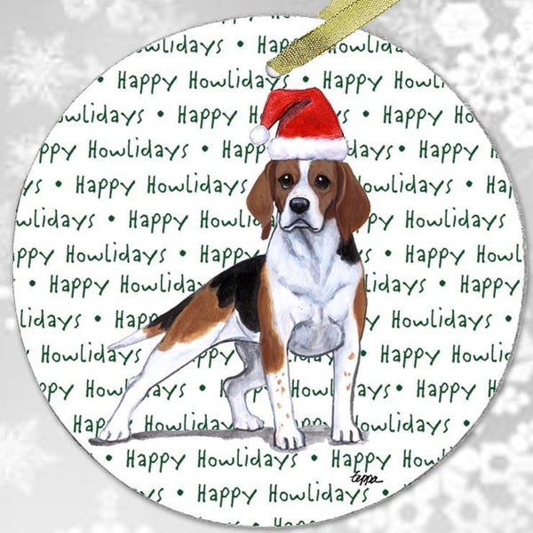 "Beagle ""Happy Howlidays"" Ornament"
