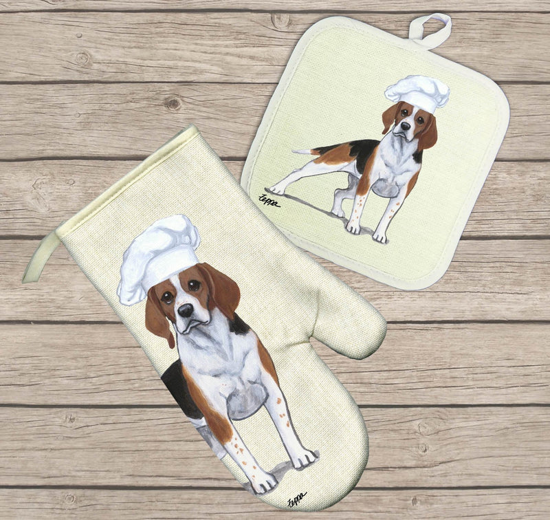 Beagle Oven Mitt and Pot Holder