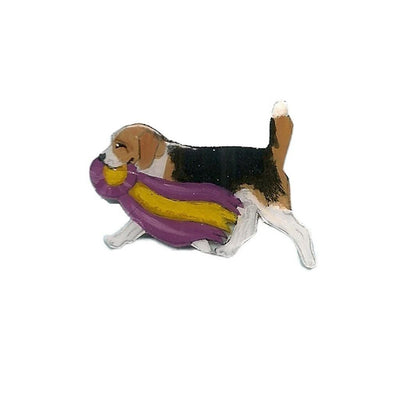 Hand-Painted Beagle Pin