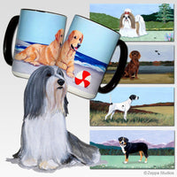 Bearded Collie Scenic Mug