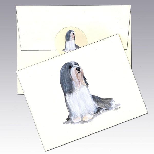 Bearded Collie Note Cards