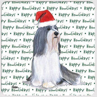 "Bearded Collie ""Happy Howlidays"" Coaster"