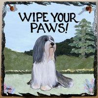 Bearded Collie Slate Sign
