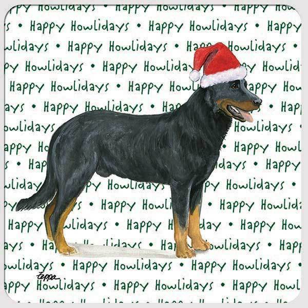 "Beauceron ""Happy Howlidays"" Coaster"