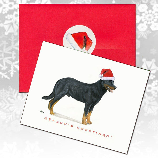 Beauceron Christmas Note Cards
