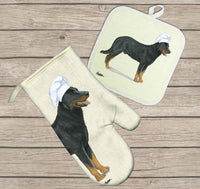 Beauceron Oven Mitt and Pot Holder