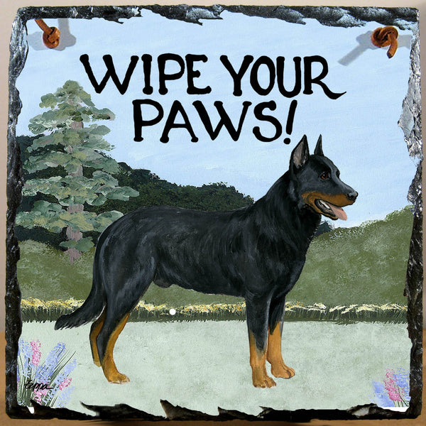Beauceron Slate Sign