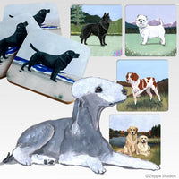 Bedlington Terrier Scenic Coaster
