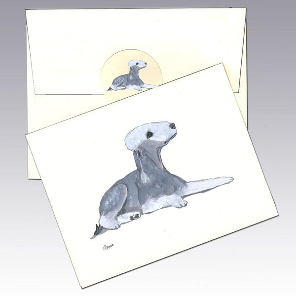 Bedlington Terrier Note Cards